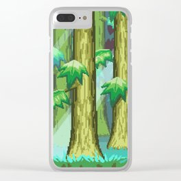 Forest of Pixels Clear iPhone Case