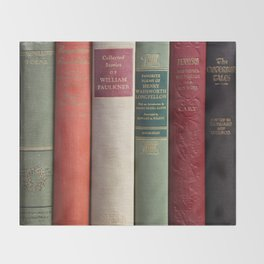 Old Books - Square Throw Blanket
