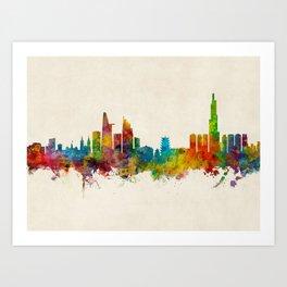 Ho Chi Minh City Saigon Vietnam Skyline Art Print