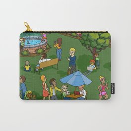 A Digital Day at the Fountain Carry-All Pouch