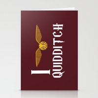 quidditch Stationery Cards featuring I love Quidditch by Danielle Podeszek
