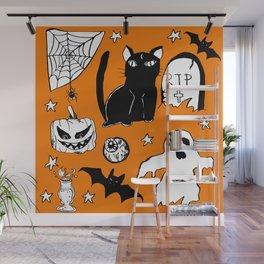 Halloween Doodles 1 Wall Mural