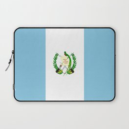 Flag of Guatemala- Guatemalan, Mixco,Villa Nueva,Petapa,tropical,central america,spanish,latine Laptop Sleeve