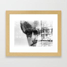 MOOD FACE Framed Art Print