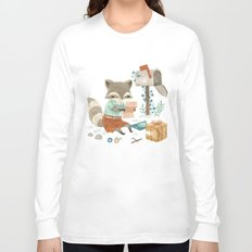 Raccoon Post Long Sleeve T-shirt