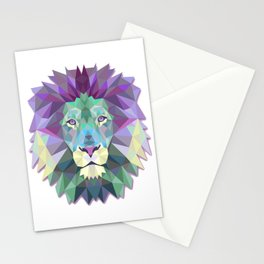 Colorful Lion Stationery Cards
