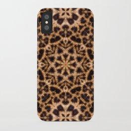 Leopard Fur Abstract Kaleidoscope Print iPhone Case