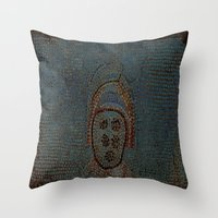 gladiator Throw Pillows featuring Gladiator by Alec Bancher