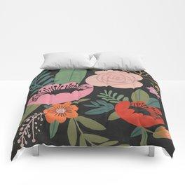Floral Guache Comforters