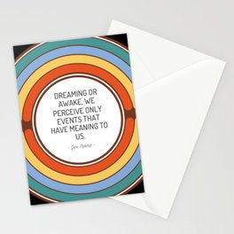 Dreaming or awake we perceive only events that have meaning to us Stationery Cards