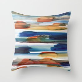 Faster Than The Speed of Color #color #abstract Throw Pillow