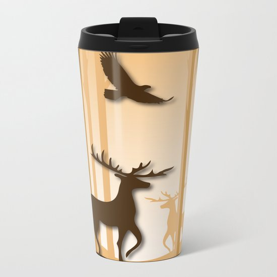 Dark Forest Metal Travel Mug