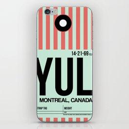 YUL Montreal Luggage Tag 2 iPhone Skin