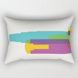 Shapes of Los Angeles accurate to scale Rectangular Pillow