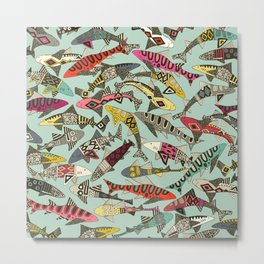 shark party summer Metal Print