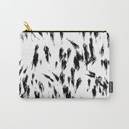 Black and White Brush Strokes Carry-All Pouch