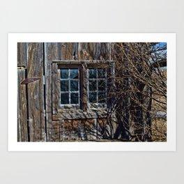 Bunkhouse Windows Art Print