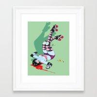 pivot Framed Art Prints featuring Pivot Slip by Plantmonster Studios