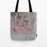edward scissorhands Tote Bags featuring edward scissorhands by Chad spann