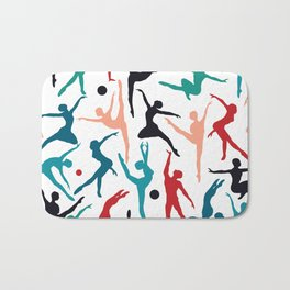 TANSI Colourful dancers pattern Bath Mat