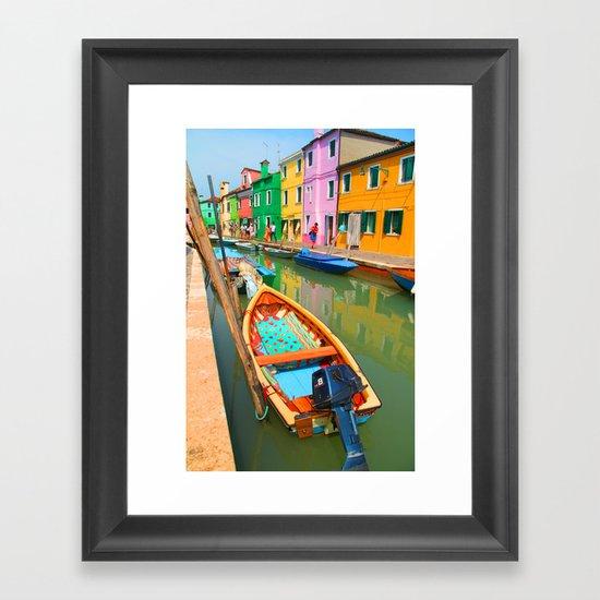 burano, italy - boat Framed Art Print