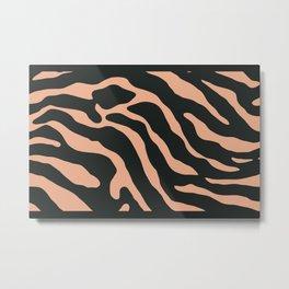 Tiger Skin Pattern Pale Orange Metal Print