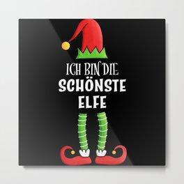 Schönste Elfe Partnerlook Weihnachten Metal Print