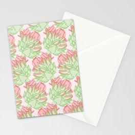 Garden Geranium Buds Pattern Stationery Cards