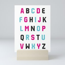 Typography Alphabet #1 Mini Art Print