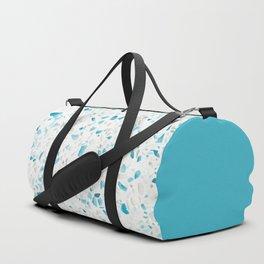 Terrazzo Texture Pacific Light Blue #5 Duffle Bag