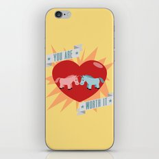 Unicorns are Worth It iPhone & iPod Skin