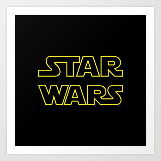 Star Logo Wars Art Print