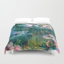 water lilies : Monet Duvet Cover