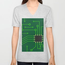 Microchip Pcb, tech print Unisex V-Neck