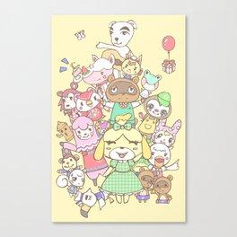 Animal Crossing (yellow) Canvas Print