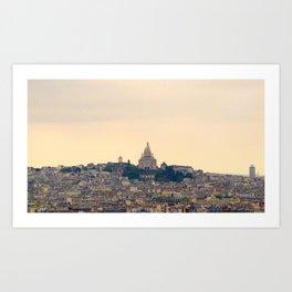 Sacré-Coeur from Notre Dame Art Print