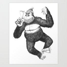 KingKongClaus Art Print