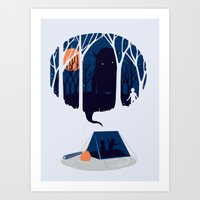 scary Art Prints featuring Scary story by SpazioC