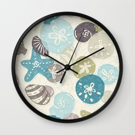 A Walk on the Beach Wall Clock