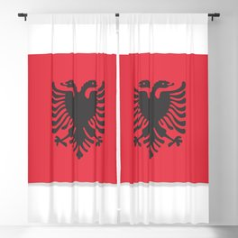 Flag of Albania, officially the Republic of Albania. Vector illustration of a stylized flag. Blackout Curtain