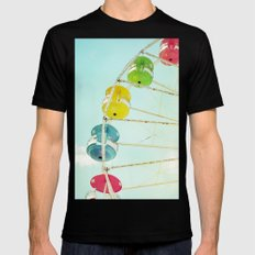 Wheel of Happiness MEDIUM Black Mens Fitted Tee