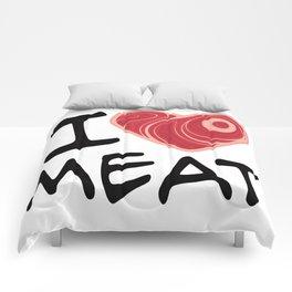 I Love Meat Comforters