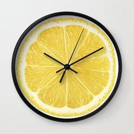 Slice of lemon Wall Clock