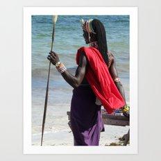 Nakupenda Masai Art Print