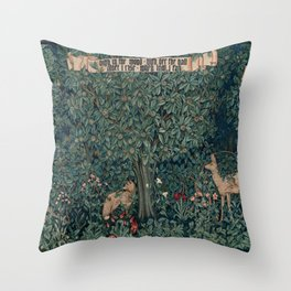 William Morris Greenery Tapestry Throw Pillow