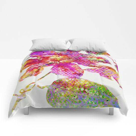 glittering clematis Comforters