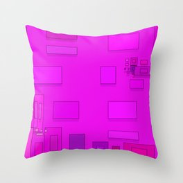 pink geometric shapes Throw Pillow