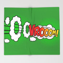 Vroom ! Throw Blanket