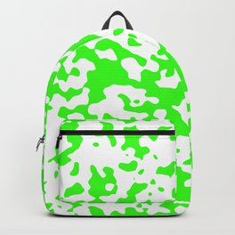 Spots - White and Neon Green Backpack