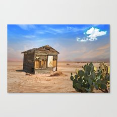 Shack in Desert Ghost Town Canvas Print
